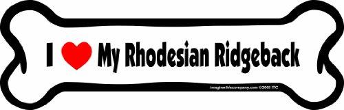 (Imagine This Bone Car Magnet, I Love My Rhodesian Ridgeback, 2-Inch by 7-Inch)