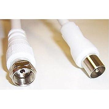 Plomo, F PLUG-TV enchufe blanco 4 m conector A conector tipo F TV