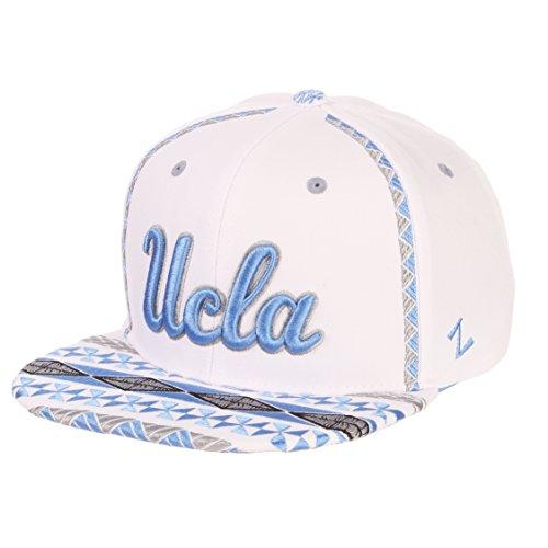 Ucla Bruins Ncaa Pattern - Zephyr NCAA UCLA Bruins Men's Pukalani Snapback Hat, Adjustable, White