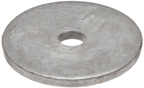 Steel Flat Washer, Galvanized Finish, M5 Hole Size, 0.813