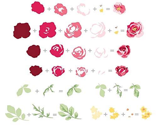 2019 DIY New Layer Metal Cutting Dies and Scrapbooking for Paper Making Flower Garden Picks 3D Die Set Embossing Frame Card ()