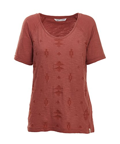 Woolrich Women's Bell Canyon Eco Rich Embroidered Tee, Baked Clay, Small