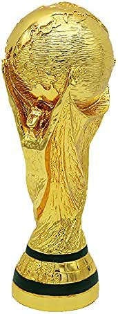 World Cup Trophy, Football Champions Trophy, Full Size Golden Trophy 3D Replica 2022 Football Trophy Souvenirs