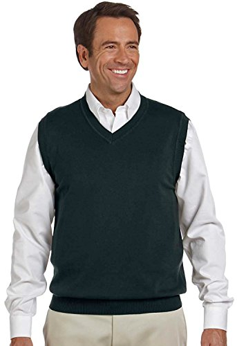V-Neck Cotton Sweater Vest - 8