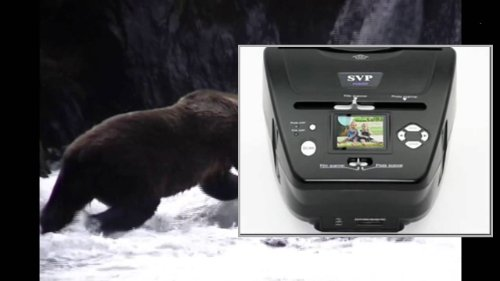 SVP PS9700 3-in-1 Digital Photo, Negative Films and Slides Scanner with Built-In 2.4-Inch LCD Screen