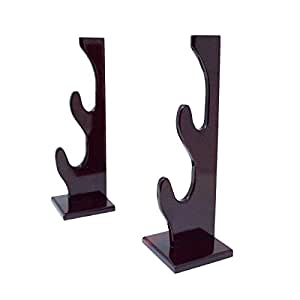 Two Tier Sword Display Rack With Double Standalone Base