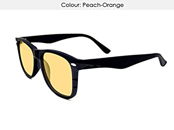 5d0571e78 MADE TO ORDER PEACH-ORANGE UV400 tinted Meares-Irlen Syndrome ...