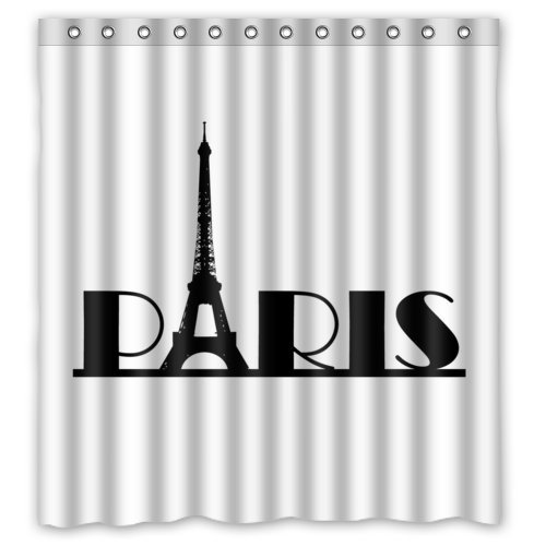 Eco-friendly Paris Eiffel Tower Art Shower Curtain
