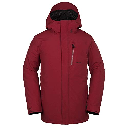 Volcom Men's L Insulated Gore-Tex Breathable Snow Jacket, red, Medium