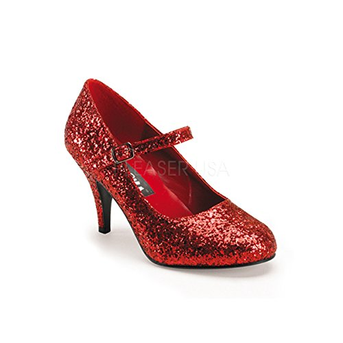 Funtasma by Pleaser Women's Glinda-50G Mary Jane Pump,Red Glitter,7 M US]()