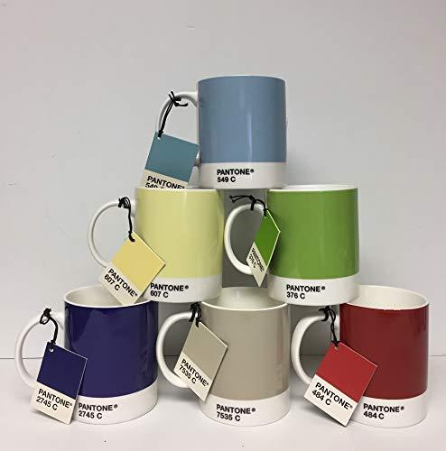 Whitbread Wilkinson Pantone Bone China Mug, Mixed Colors 2009, Pack Of 6 ()