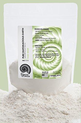 Fossil Power Diatomaceous Earth Food Grade Powder 1 Lb Bulk Resealable Bag Safe For Human