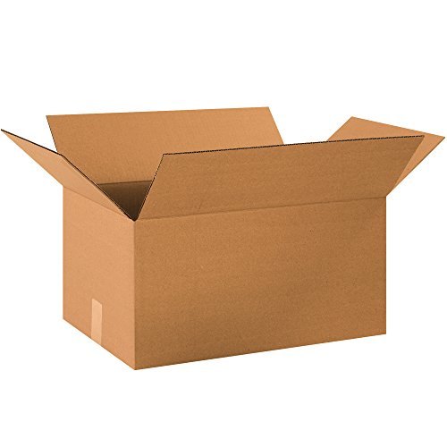 "BOX USA B20131050PK Long Corrugated Boxes, 20"" L x 13"" W x 10"" H, Kraft (Pack of 50) from BOX USA"