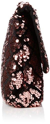 Dorothy Perkins Sequin Foldover - Bolsa Mujer Rosa (Pink)