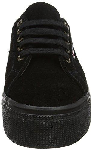 Superga Damen 2790 Suew Sneaker Schwarz (Full Black A09)