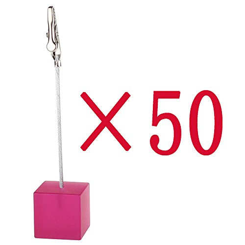 Shocking Pink Resin Cube Wire Photo&card&note&desk&number&memo Clip by Bobeau-Decoration