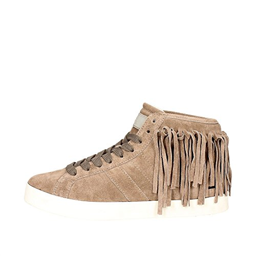 D.A.T.E............ Hill HIGH-31I Haute Sneakers Femme Marron Taupe