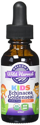 Oregon's Wild Harvest Children's Echinacea Goldenseal Orange Organic Herbal Supplement, 1 Fluid Ounce