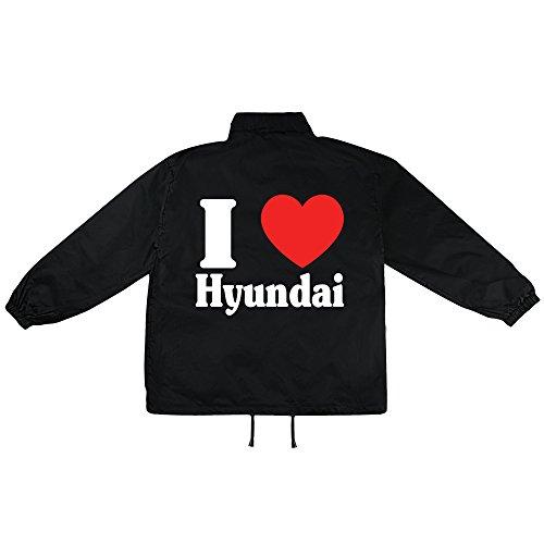 i love Hyundai Motiv auf Windbreaker, Jacke, Regenjacke, Übergangsjacke, stylisches Modeaccessoire für HERREN, viele Sprüche und Designs