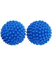 Laundry Dryer Balls, 2Pcs Tumble dryers Clothes Will Fluffy Soft, Less Wrinkle Reusable, Blue