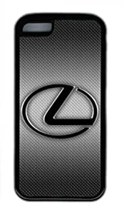 Lexus Car Logo Grey Background Iphone 5C Black Sides Rubber Shell Case by eeMuse