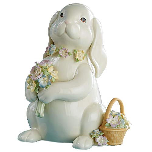 Lenox Bunny's Flower Bouquet Figurine 8