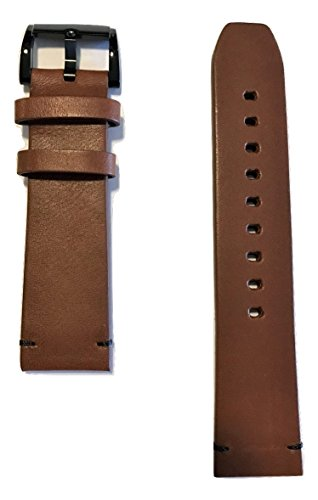 22mm Movado BOLD Men's Brown Leather Watch Band Strap [22mm Band Width]