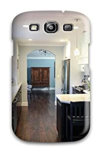 Galaxy S3 Exotic Walnut Flooring In Transitional Kitchen Print High Quality Tpu Gel Frame Case Cover