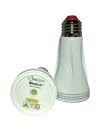 Laser Green Star Projector (BlissLights BlissBulb Red and Green Two Pack - Energy Efficient Lasers Light Bulbs)