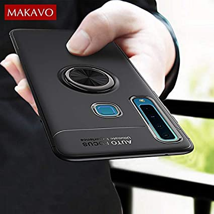 big sale 26959 9b9c1 Samsung Galaxy A9(2018)(Quad Camera) Case Finger Ring Holder Soft Silicone  Matte Back Cover for Samsung A9(2018) Quad Camera Phone Case- by ASPLATINUM