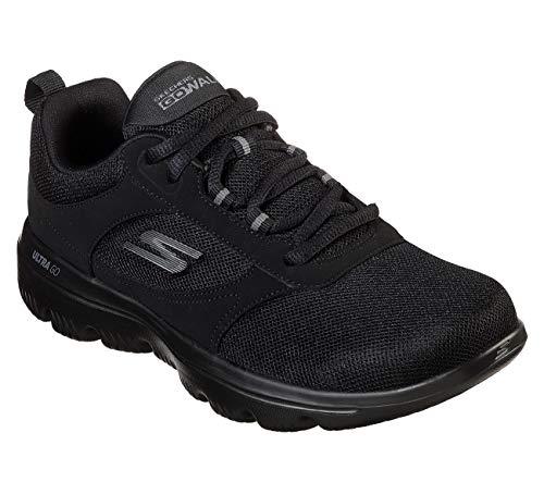 Skechers Women's GO Walk Evolution Ultra-Enhance Sneaker, Black, 11 M US