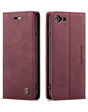 Freezon Case for iPhone 7,case for iPhone 8 Elegant Retro Leather with ID Credit Card Slot Holder Flip Cover Stand Magnetic Closure Case for iPhone 7/8