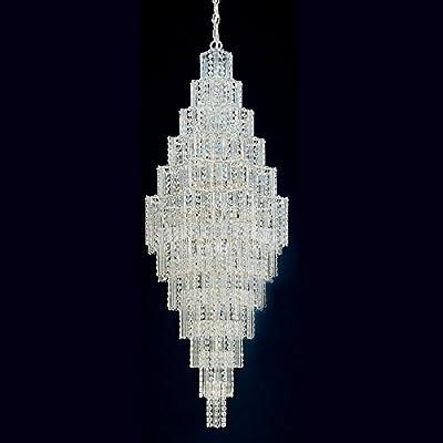 "Schonbek 52"" High Jubilee Chandelier with Gemcut Crystals"