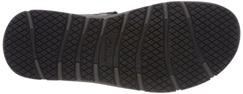 Clarks Herren Brixby Shore Slingback Sandalen Schwarz (Black Leather)