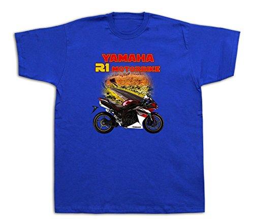 Motorcycle yamaha r1 motorbike Hot Rod Tshirts Highway Bike Cartoon Fairing YZF
