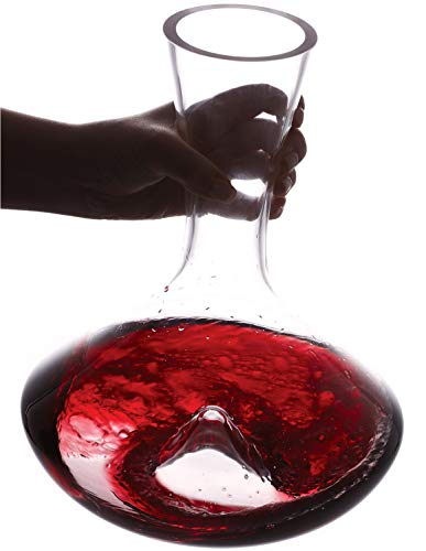 Vintorio Citadel Wine Decanter - Artisanally Hand Blown Lead-Free Crystal - Super Durable Sommelier