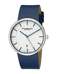 Stuhrling Original Men's 244.3315C2 Classic Ascot Fairmount Swiss Quartz Date Ultra Slim Blue Watch