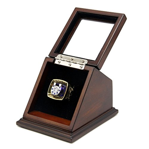 Rare & Collectible Replica AMERICAN FOOTBALL (NFLL) CHAMPIONSHIP RINGS FROM 1966 TO 2016 ( I - LI ) WITH SLANTED GLASS WINDOW DISPLAY CASE BOX - SIZE 11 (1970 SEASON V, 11)