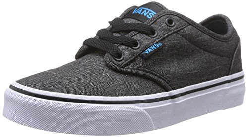 Vans Atwood, Unisex-Childs' Low-Top Sneakers, Black ((Textile) Black/Hawaiian Ocean), 2.5 UK (34 EU)