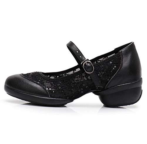 Basse Dance Girls Black Showtime Leather Scarpe Ladies Tonda Punta Ballo Stage Shoes Character Da 7dOnqZ