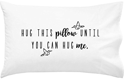 "Oh, Susannah Hug This Pillow Until You Can Hug Me - LDR Pillow Case 20x30"" Standard/Queen Size Pillowcase Long Distance Relationship Gifts Girlfriend Gifts"