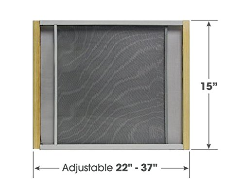 Adjustable Window Screen Built To Help Air Circulate Through Your Home, Adjusts Its Width Within a Range of 22'' - 37'' - 15 in high, Installs in Seconds No Tools Needed by Tapix