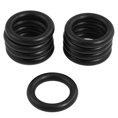 uxcell 10 Pcs Black Nitrile Rubber O Ring NBR Seal Washer 30mm x 5mm
