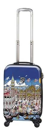 Heys USA Luggage Fazzino Carnevale Veneziana 22 Inch Hardside Carry-on Spinner, Venezia, 22 Inch