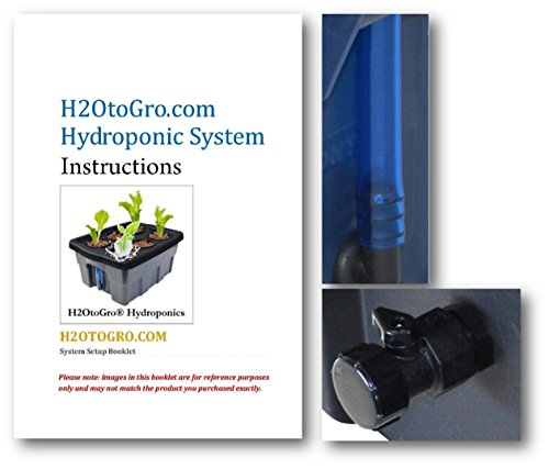 41sSyUQA66L - Complete Hydroponic system DWC SELF-WATERING Bubbler Kit # 3-4 H2OtoGro