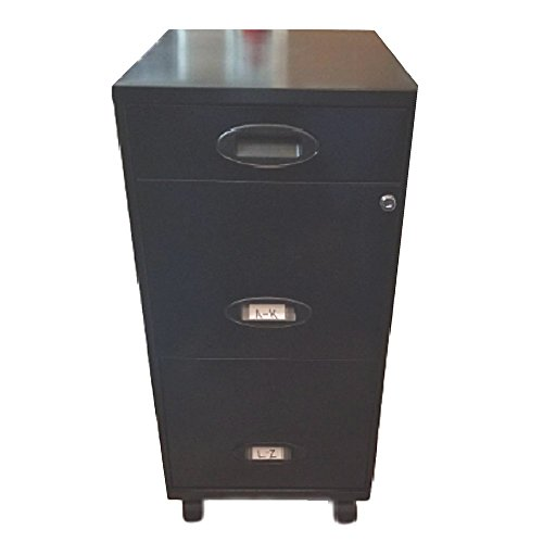 Locked Filing Cabinet Safe Hanging File Rolling with Drawers Cart Wheels Storage Organizer Letter Heavy Duty & eBook