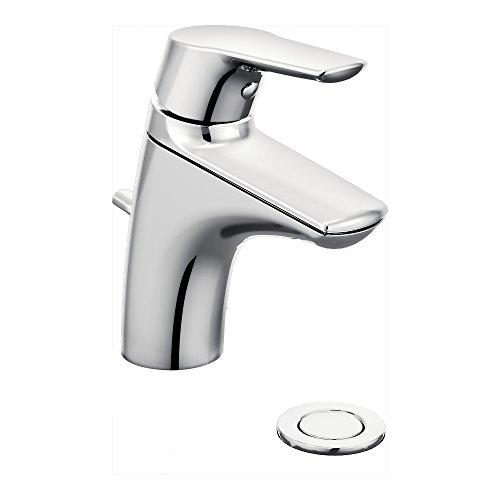 (Moen 6810 Method One-Handle Single Hole Bathroom Faucet, 1 count, Chrome)