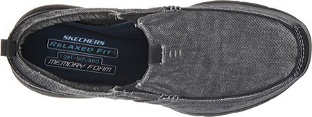 Relaxed Black Benideck scivolate Fit Skechers 5wZxqUn