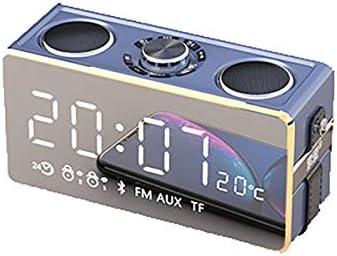 SHKRRB ワイヤレスBluetoothスピーカー太りすぎサブウーファーホーム大量屋外の携帯電話オーディオスマートサラウンド小キャノンミニ車のポータブルインパクトラジオ付き目覚まし時計を3dは (Color : Gold)