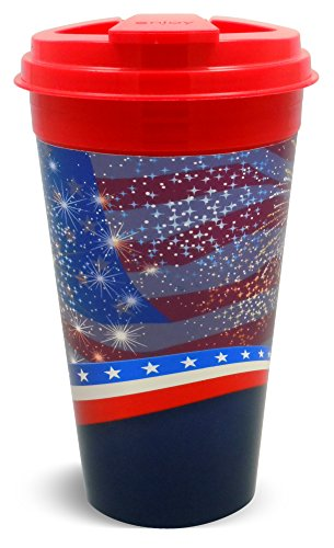 Easy Traveler FG002.0739BK Capitol Cups American Spirit Collection, 16 oz., Red (Pack of 2) (Spirit Cups compare prices)